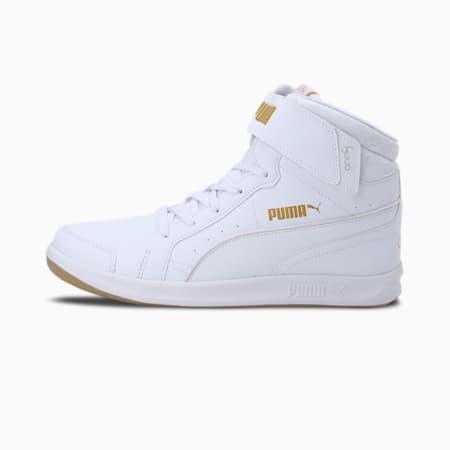 one8  Prime Mid V3 Men's Shoes, Puma White-Puma Team Gold, small-IND