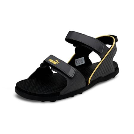 Shade IDP Men's Sandals, Asphalt-Super Lemon, small-IND