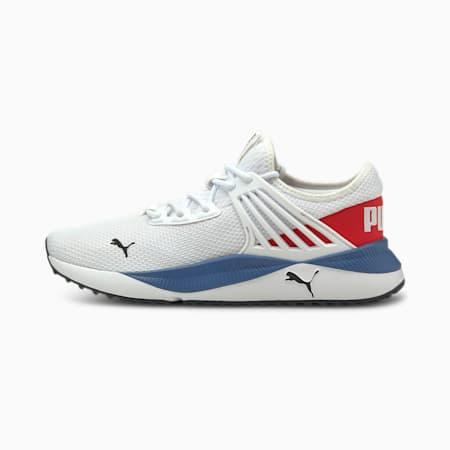 Zapatos deportivos Pacer Future para hombre, Puma White-High Risk Red, pequeño