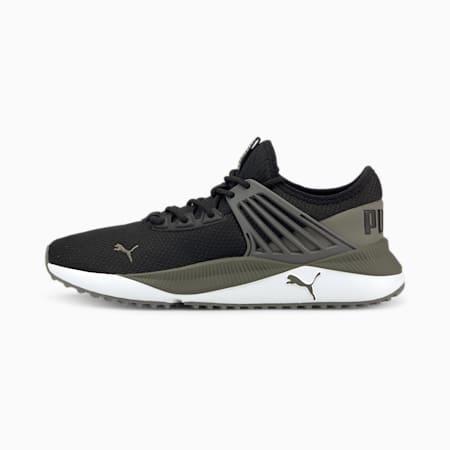 Zapatos deportivos Pacer Future para hombre, Puma Black-Dark Shadow-Steel Gray, pequeño