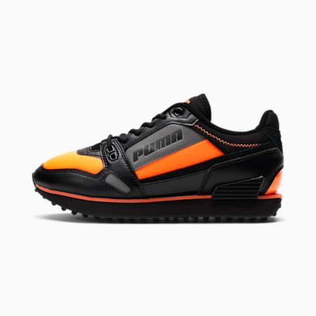 Mile Rider Bright Peaks Sneakers JR, Puma Black-Ultra Orange, small