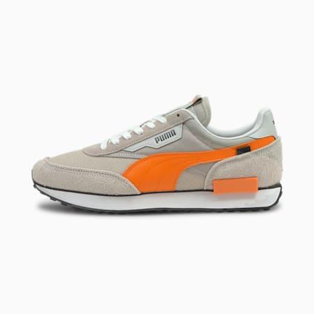 Future Rider Vintage Trainers, Gray Violet-Vibrant Orange, small