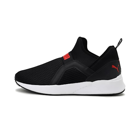 Pacer Bold Men's IDP Shoes, Puma Black-High Risk Red, small-IND
