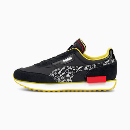 PUMA x PEANUTS Future Rider Sneaker, Puma Black-Puma White, small