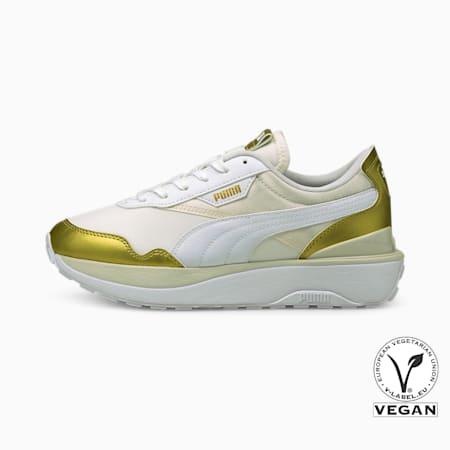 Zapatos deportivos Cruise Rider Chrome para mujer, Vaporous Gray-Puma Team Gold, pequeño