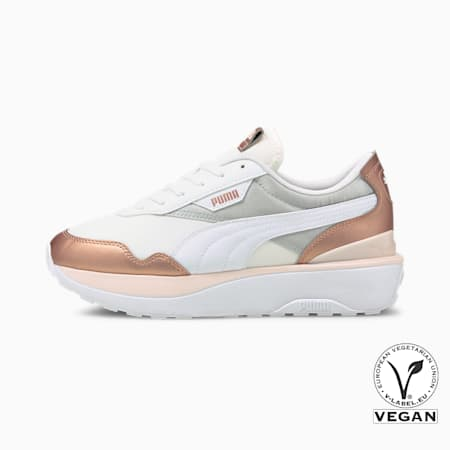 Cruise Rider Chrome Women's Trainers, Puma White-Rose Gold, small-GBR