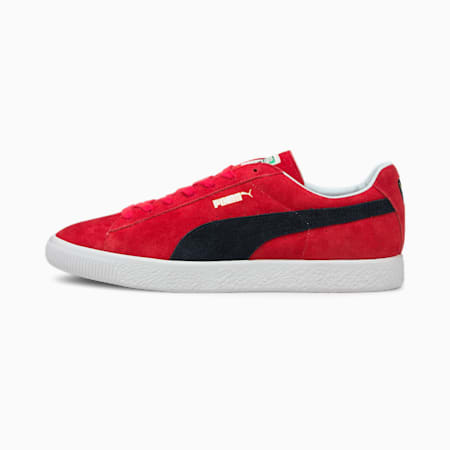 Suede Vintage MIJ Retro Trainers, High Risk Red-Puma New Navy, small