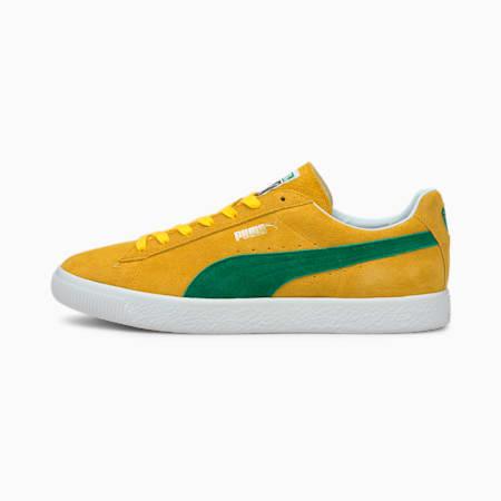 Suede Vintage MIJ Retro Trainers, Spectra Yellow-Amazon Green, small