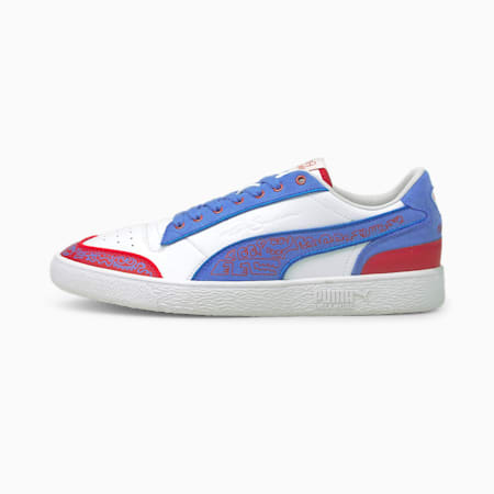 PUMA x MR DOODLE Ralph Sampson Trainers, Puma White-Ultramarine, small-SEA