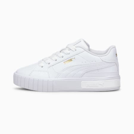 Cali Star Kids' Trainers, Puma White-Puma White, small