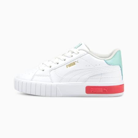 Dziecięce buty sportowe Cali Star, Puma White-Eggshell Blue, small