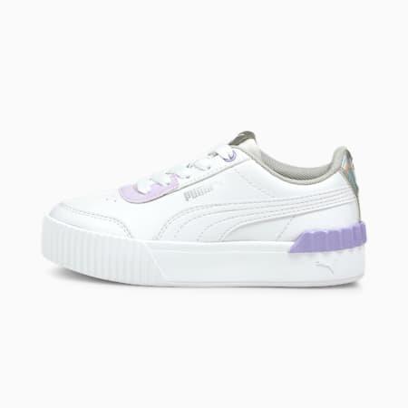 Dziecięce buty sportowe Carina Lift, Puma White-Puma White, small