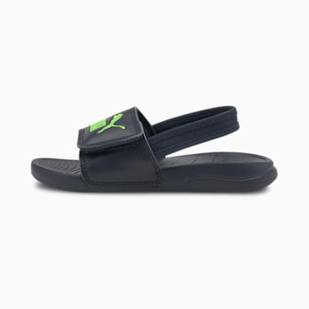 Popcat 20 Backstrap Kids' Sandals, Peacoat-Green Flash, small-SEA