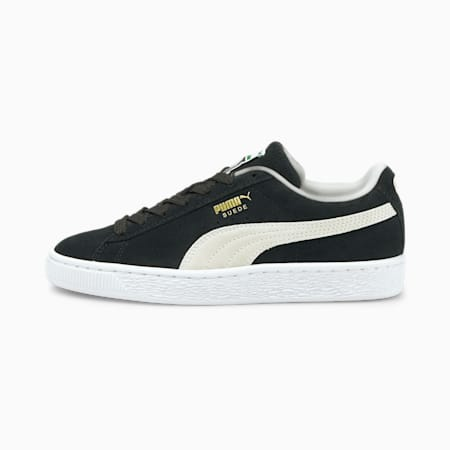 Suede Classic XXI Youth Trainers, Puma Black-Puma White, small