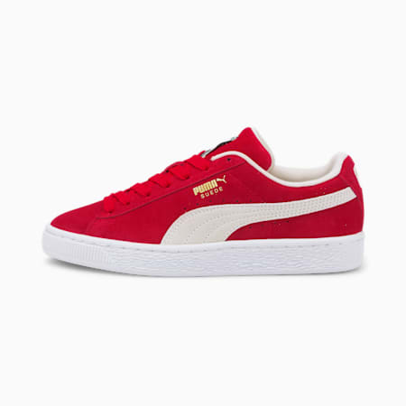 Suede Classic XXI Youth Trainers, High Risk Red-Puma White, small