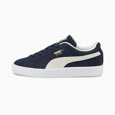 Suede Classic XXI Youth Trainers, Peacoat-Puma White, small