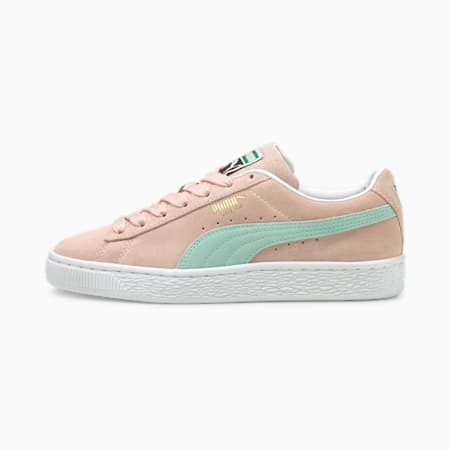 Suede Classic XXI Youth Trainers, Lotus-Eggshell Blue, small-GBR