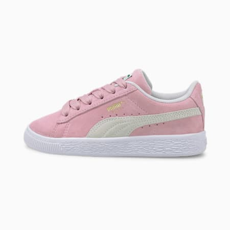 Suede Classic XXI Kids' Trainers, Pink Lady-Puma White, small-GBR