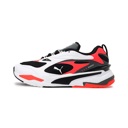 RS-Fast Unisex Sneakers, Puma Black-Puma White-Red Blast, small-IND