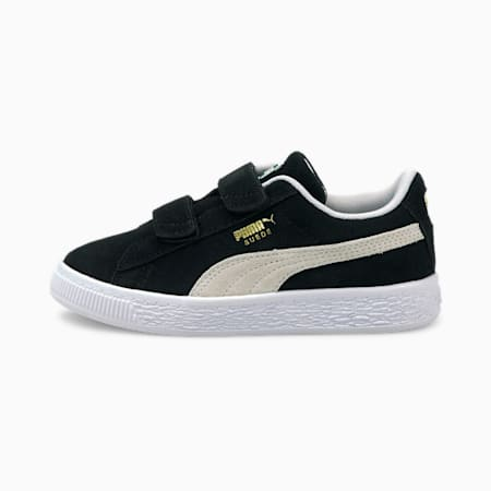 Suede Classic XXI Kids' Trainers, Puma Black-Puma White, small