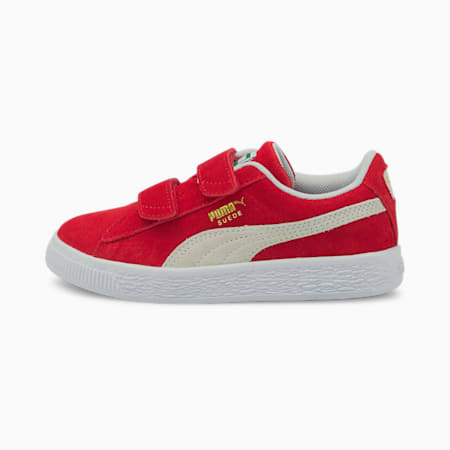 Suede Classic XXI Kids' Trainers, High Risk Red-Puma White, small