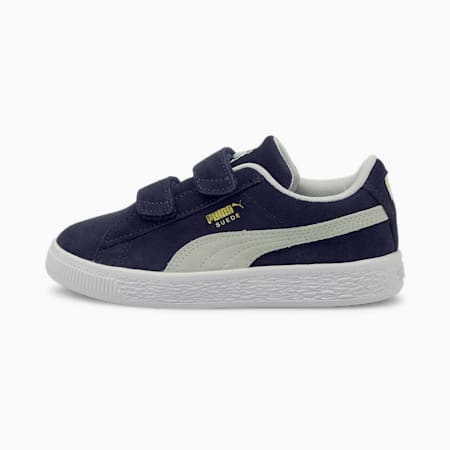 Suede Classic XXI Kids' Trainers, Peacoat-Puma White, small
