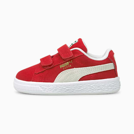 Suede Classic XXI Babies' Trainers, High Risk Red-Puma White, small