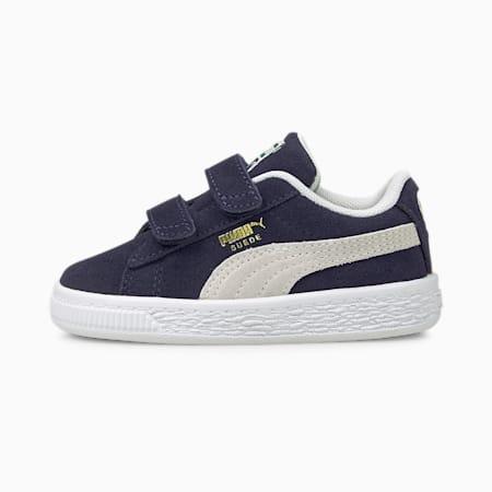 Suede Classic XXI Baby Sneaker, Peacoat-Puma White, small