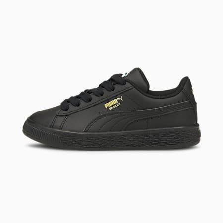 Basket Classic XXI sneakers kinderen, Puma Black-Puma Black, small