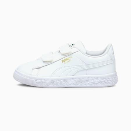 Basket Classic XXI Kinder Sneaker, Puma White-Puma White, small