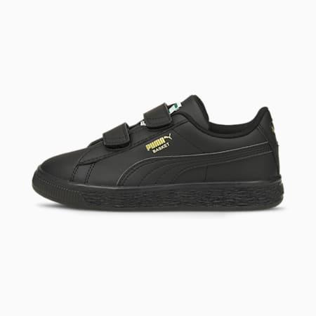 Basket Classic XXI Kinder Sneaker, Puma Black-Puma Black, small