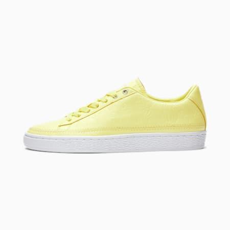 PUMA x emoji® Basket Women's Sneakers, Sunny Lime-Puma White, small