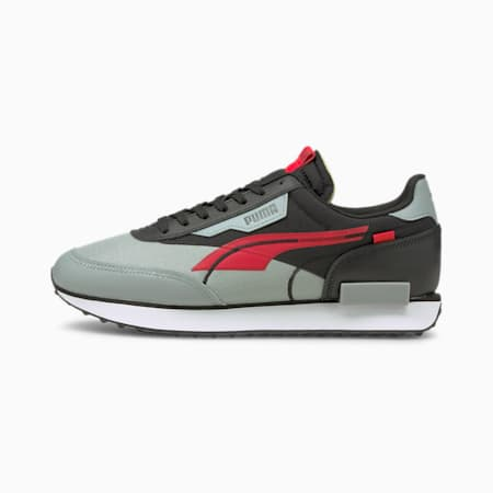 Future Rider Twofold Trainers, Puma Black-High Risk Red, small