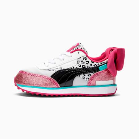 PUMA x L.O.L. SURPRISE! Future Rider Diva Little Kids' Shoes, Puma White-Puma Black-BRIGHT ROSE, small-GBR