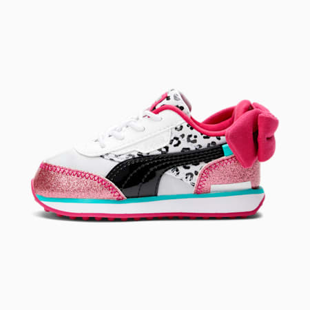 PUMA x L.O.L. SURPRISE! Future Rider Diva Toddler Shoes, Puma White-Black-BRIGHT ROSE, small