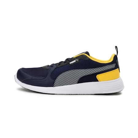 Fire Run Men's Shoes, Peacoat-Dandelion-Puma White-Puma Black, small-IND