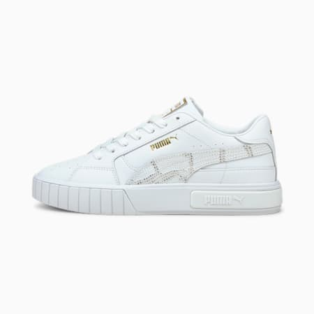 Cali Star Snake Women's Trainers, Puma White-Puma White, small-GBR