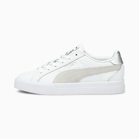 Ana Metallic Women's Shoes   Puma White-Puma Silver   PUMA Sneakers   PUMA