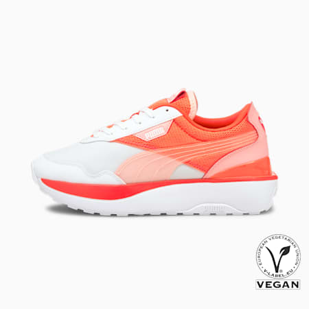 Zapatos deportivosCruise Rider Ocean Roadpara mujer, Puma White-Fiery Coral, pequeño