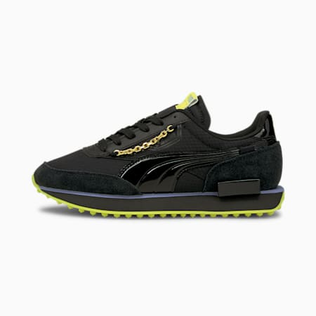 Future Rider Dark Dream sneakers dames, Puma Black-Nrgy Yellow, small