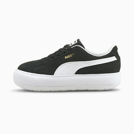 Zapatos deportivos Suede Mayu para mujer, Puma Black-Puma White, pequeño