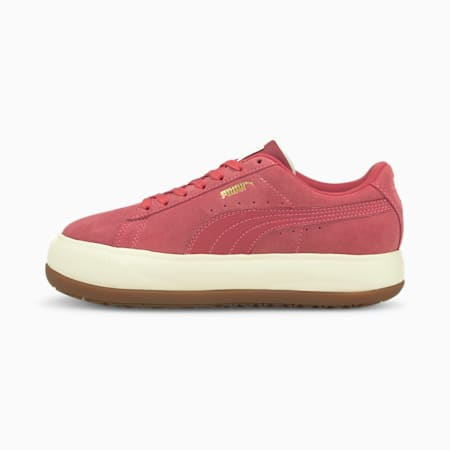 Suede Mayu Women's Trainers, Mauvewood-Marshmallow-Gum, small