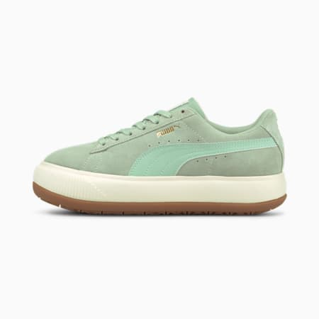 Suede Mayu Women's Trainers, Frosty Green-Marshmallow-Gum, small-GBR