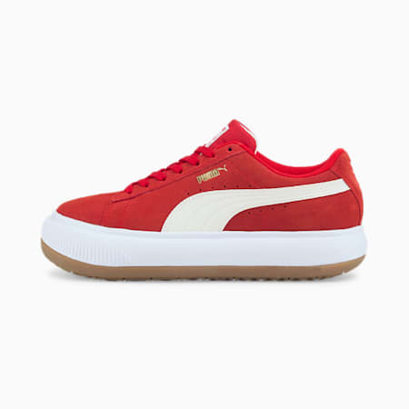 Baskets Suede Mayu femme, High Risk Red-Puma White-Gum, small