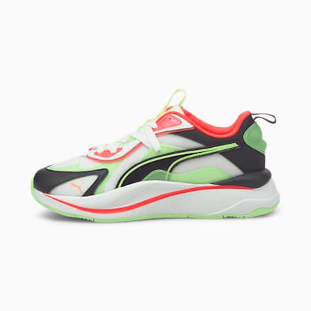 Zapatos deportivos RS-Curve City Lights de mujer, Puma White-Elektro Green, pequeño