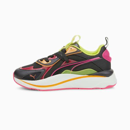 Zapatos deportivos RS-Curve City Lights de mujer, Puma Black-Beetroot Purple, pequeño