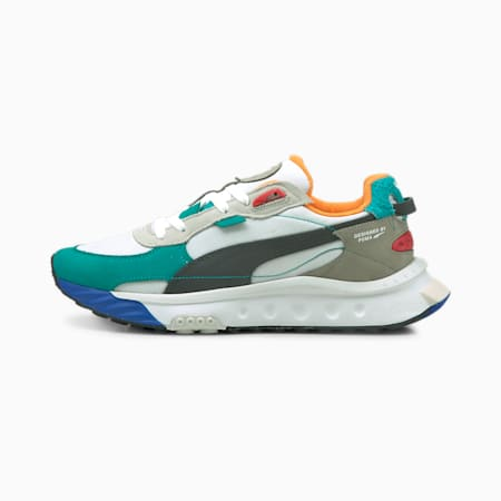 Wild Rider Layers Sneakers, Puma White-Viridian Green, small-GBR