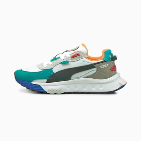 Wild Rider Layers Sneakers, Puma White-Viridian Green, small-SEA