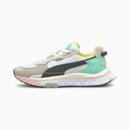 Wild Rider Layers Sneakers, Puma White-Ebony, small-GBR