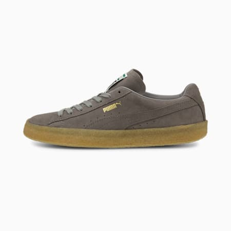 Suede Crepe Trainers, Steeple Gray-Steeple Gray, small